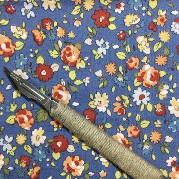 Vintage Blue Flowers 1